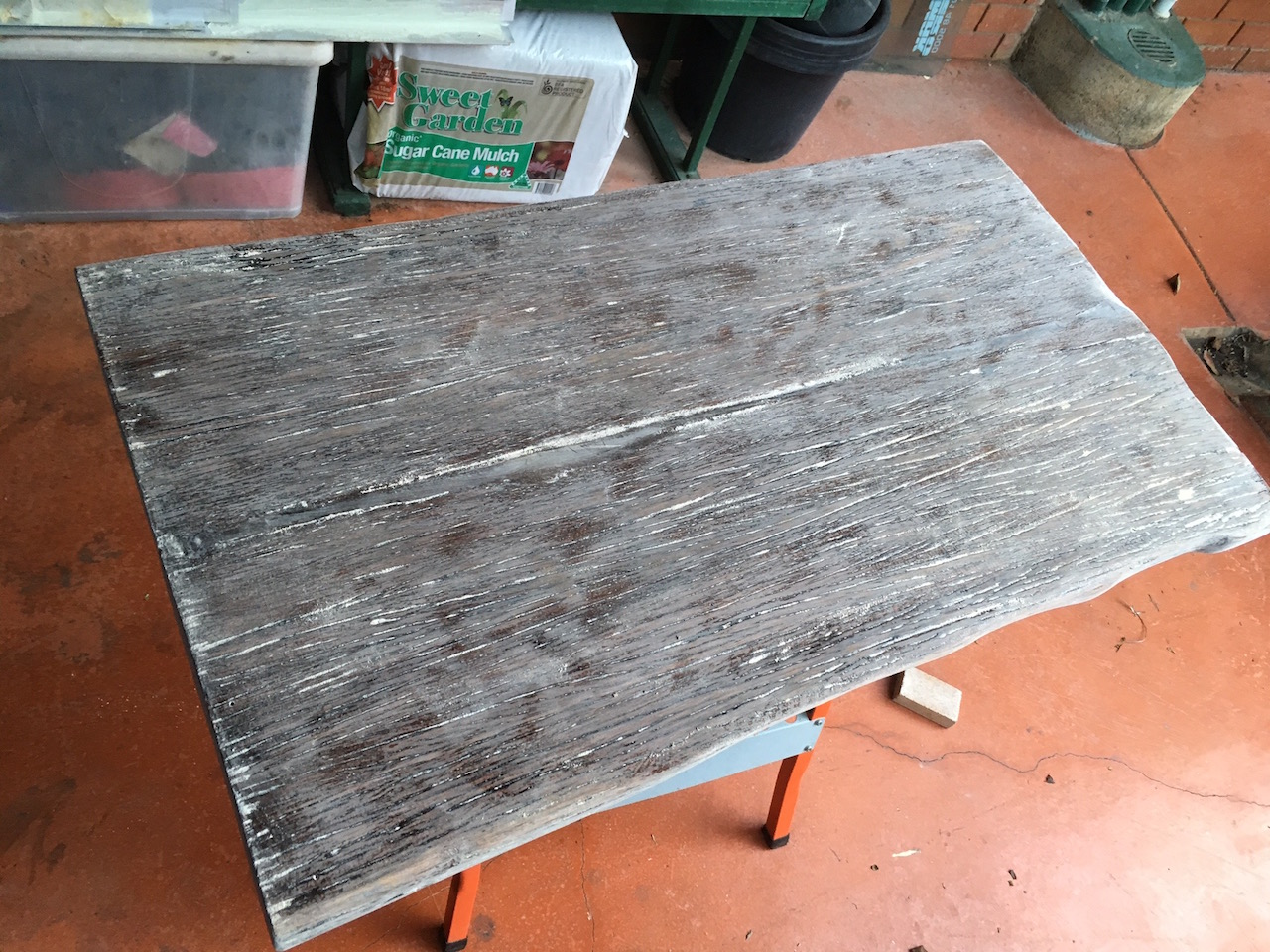 Wonderful image of DIY Hardwood Coffee Table made out of recycled wood (part 4) Igor's  with #AB4220 color and 1280x960 pixels