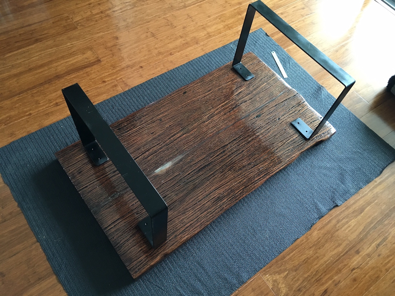 Wonderful image of DIY Hardwood Coffee Table made out of recycled wood (part 4) Igor's  with #9E6F2D color and 1280x960 pixels