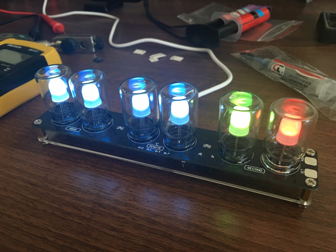 Led Coffee Table Diy Assembly Diy Aurora Led Color Light Cube Chromatography Glass