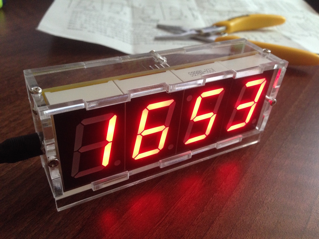 Assembling The Diy 4 Digit Led Electronic Clock Kit Igor Kromin Wiring Diagram Of Img 1247