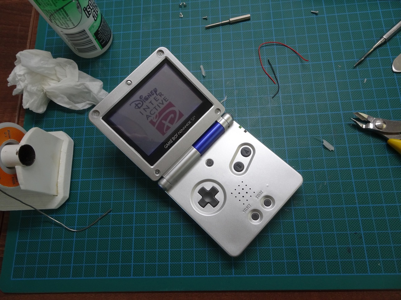 Restoring A Game Boy Advance Sp New Housing Battery And Front