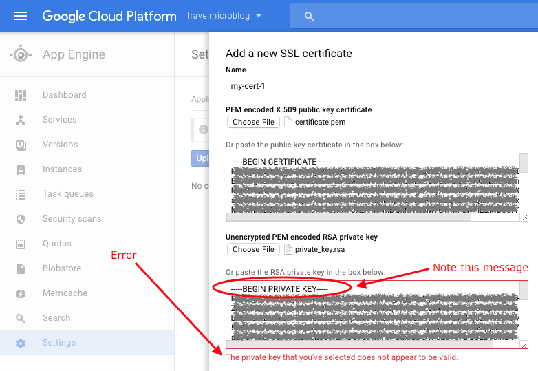 Fixing The Invalid Private Key Error In The Google Cloud Platform