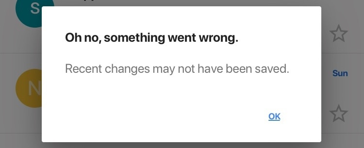 How to fix the iOS Gmail app error - Oh no, something went wrong