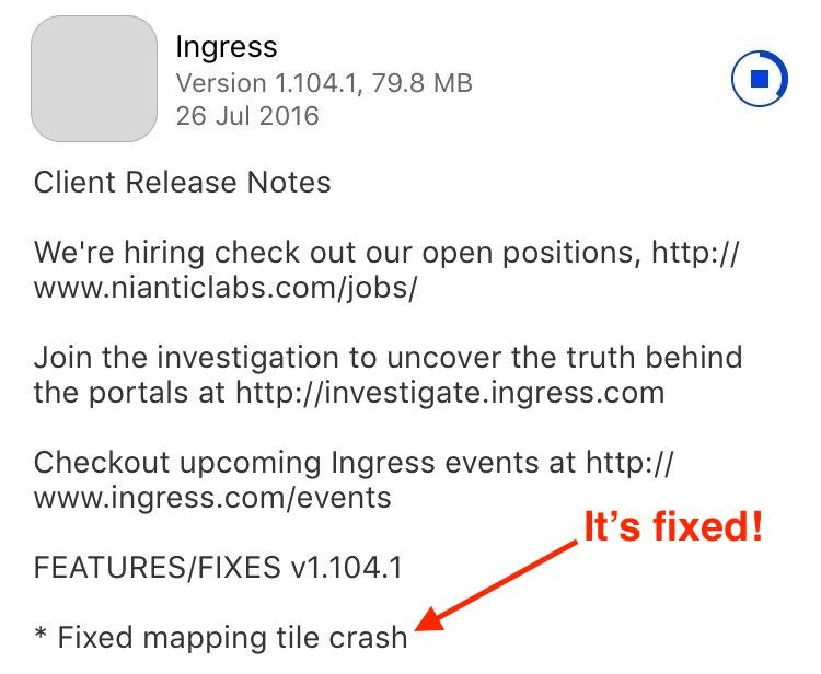 Ingress crashing on launch after iOS 9 3 3 update | Igor Kromin