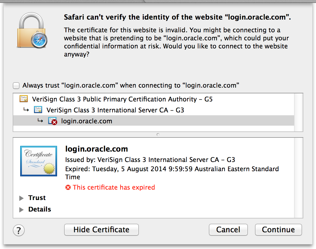 Safari Cant Verify The Identity Of The Website Loginoracle
