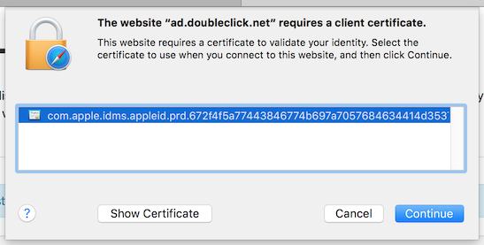 Chrome and Safari keep saying ad.doubleclick.net requires a client ...