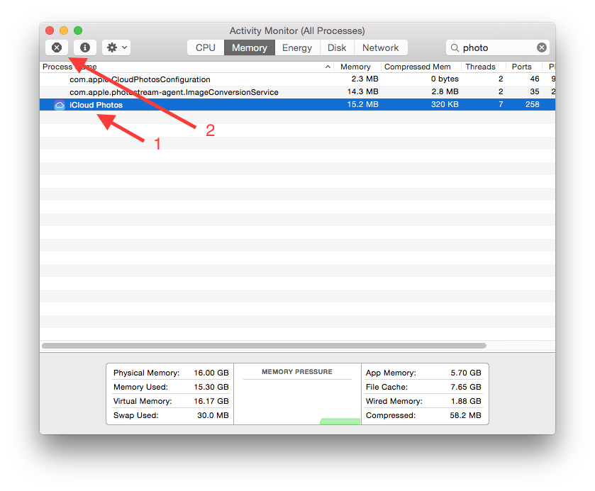 Force iPhoto to refresh your iCloud shared streams on OS X