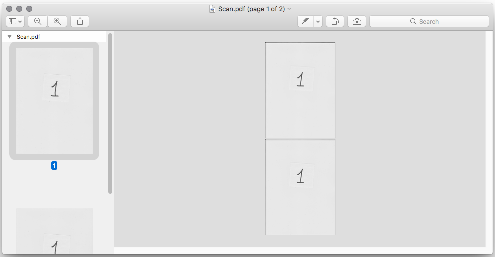 Multiple page PDF scanning does not work in macOS Sierra