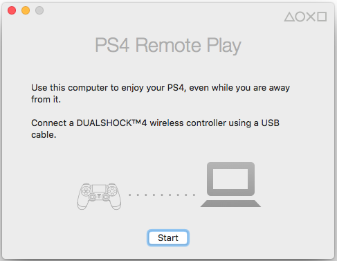 Sony PS4 Remote Play on OSX connected to a Dell U3415W
