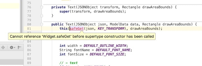 Resolving the Cannot reference X before supertype constructor is