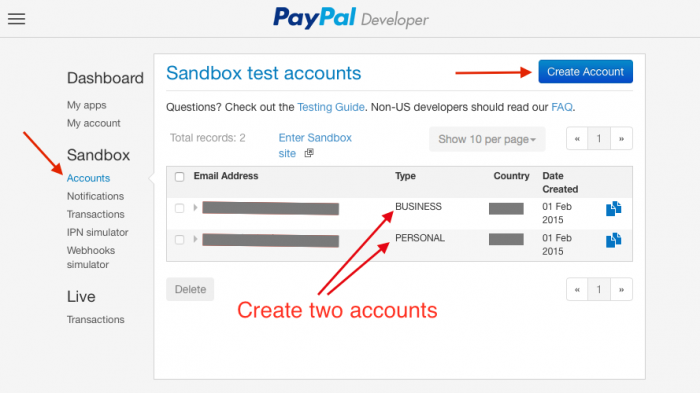 A quick start with the PayPal PHP SDK for the REST API