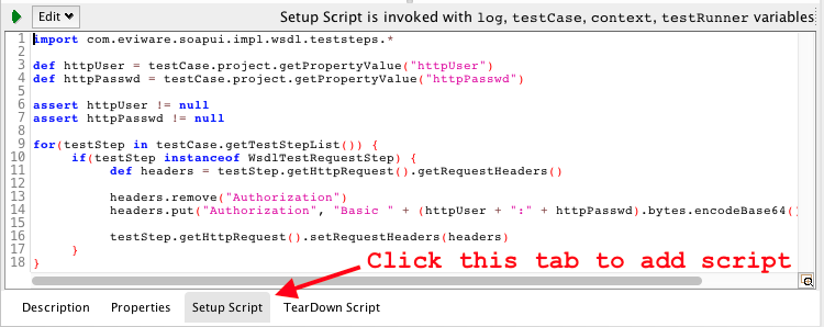 Adding HTTP Authentication to SoapUI testrunner sh test