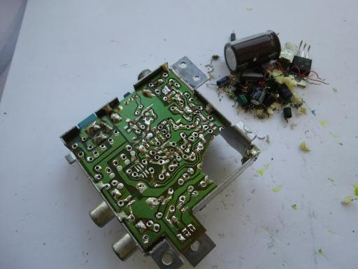 Components On The A V Pcb So That I Can Solder In My Own Wiring Later