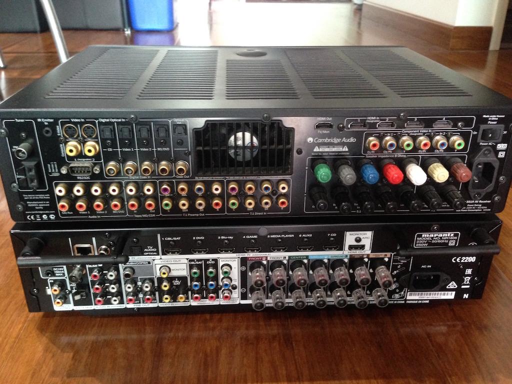 Replacing the Cambridge Audio AVR551R with Marantz NR1605