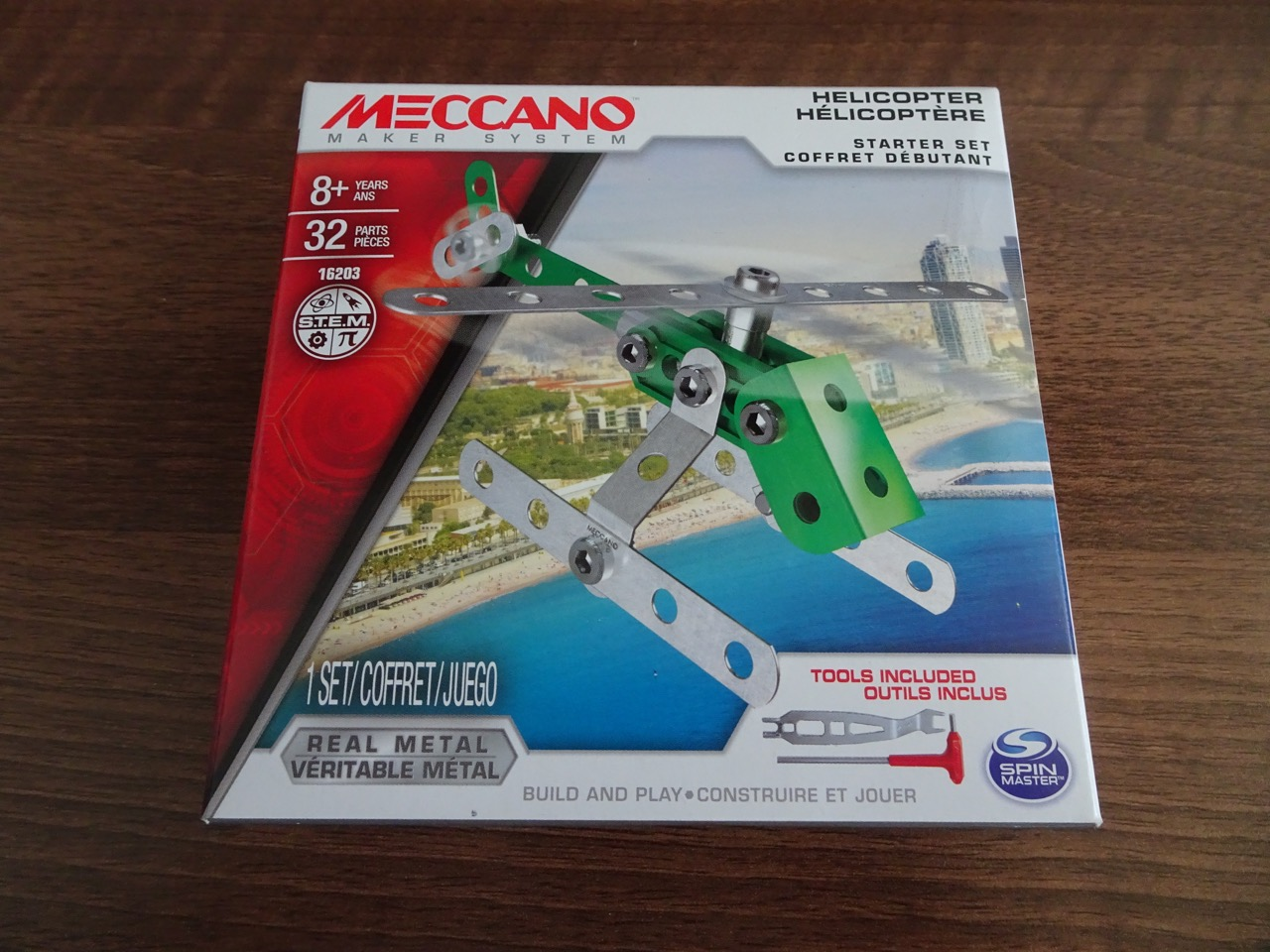 Building A First Meccano Kit Helicopter 16203 From A Lego Kid