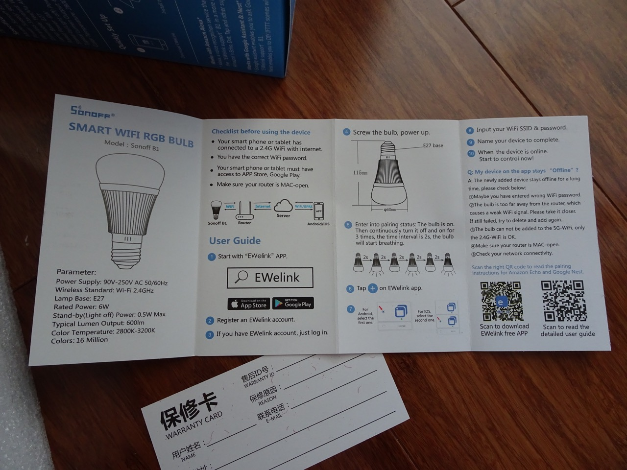 Mini review of the Sonoff B1 WiFi light bulb | Igor Kromin