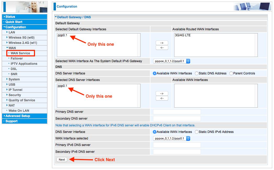TPG FTTB settings for the Billion BiPAC 8700AXL 1600 modem router