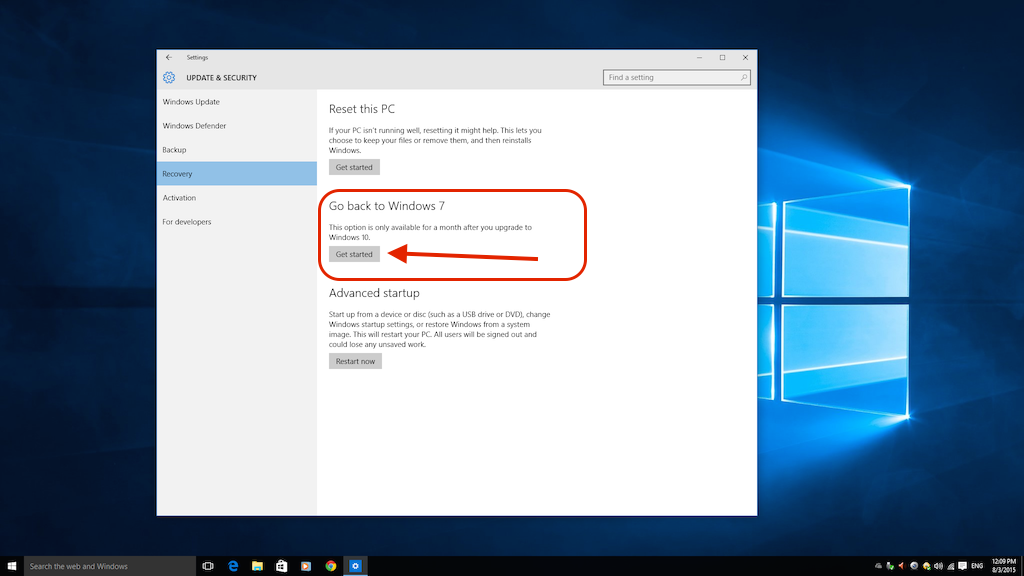 how to go from windows 10 to 7